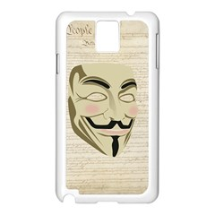 We The Anonymous People Samsung Galaxy Note 3 N9005 Case (White)