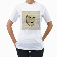 We The Anonymous People Women s T-Shirt (White)