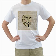 We The Anonymous People Men s T-Shirt (White)