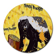Honeybadgersnack 8  Mouse Pad (round)