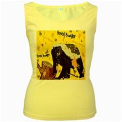 Honeybadgersnack Women s Tank Top (Yellow)