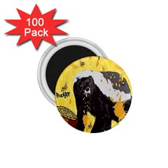 Honeybadgersnack 1.75  Button Magnet (100 pack)