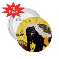 Honeybadgersnack 2.25  Button (10 pack)