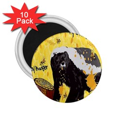 Honeybadgersnack 2.25  Button Magnet (10 pack)