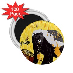 Honeybadgersnack 2.25  Button Magnet (100 pack)