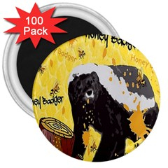 Honeybadgersnack 3  Button Magnet (100 pack)