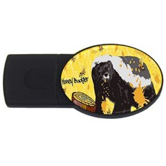 Honeybadgersnack 2gb Usb Flash Drive (oval)
