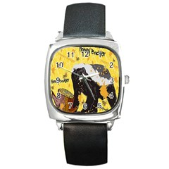 Honeybadgersnack Square Leather Watch