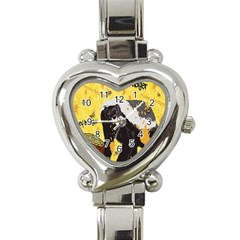 Honeybadgersnack Heart Italian Charm Watch