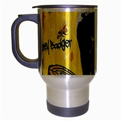 Honeybadgersnack Travel Mug (Silver Gray)