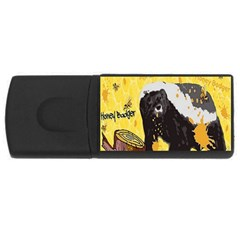 Honeybadgersnack 4GB USB Flash Drive (Rectangle)