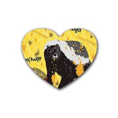Honeybadgersnack Drink Coasters (heart)