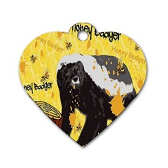 Honeybadgersnack Dog Tag Heart (two Sided)