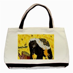 Honeybadgersnack Twin Sided Black Tote Bag