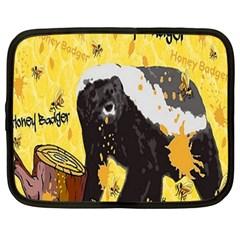 Honeybadgersnack Netbook Sleeve (Large)