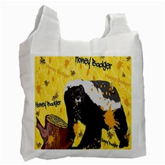 Honeybadgersnack White Reusable Bag (One Side)