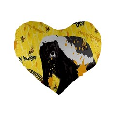 Honeybadgersnack 16  Premium Heart Shape Cushion
