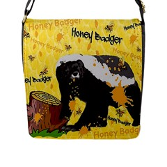Honeybadgersnack Flap Closure Messenger Bag (Large)