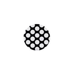 Black And White Polkadot 1  Mini Button