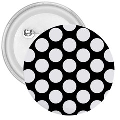 Black And White Polkadot 3  Button