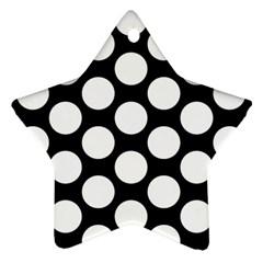 Black And White Polkadot Star Ornament