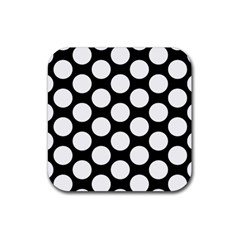 Black And White Polkadot Drink Coasters 4 Pack (Square)