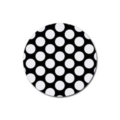 Black And White Polkadot Drink Coasters 4 Pack (Round)