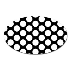Black And White Polkadot Magnet (Oval)