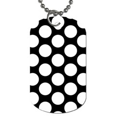Black And White Polkadot Dog Tag (One Sided)