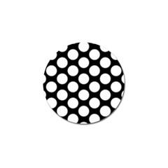 Black And White Polkadot Golf Ball Marker