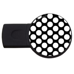 Black And White Polkadot 2gb Usb Flash Drive (round)