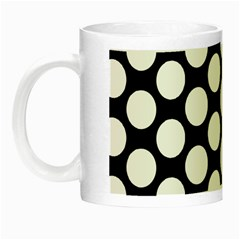 Black And White Polkadot Glow in the Dark Mug
