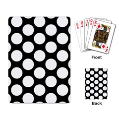 Black And White Polkadot Playing Cards Single Design