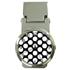 Black And White Polkadot Money Clip with Watch