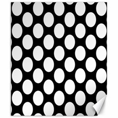 Black And White Polkadot Canvas 20  x 24  (Unframed)
