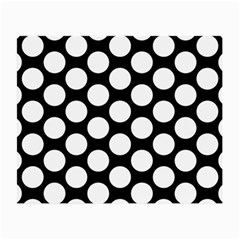Black And White Polkadot Glasses Cloth (Small, Two Sided)