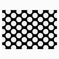 Black And White Polkadot Glasses Cloth (large, Two Sided)