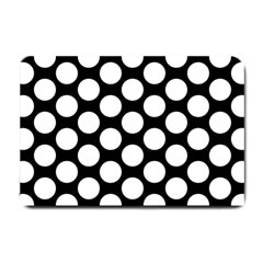 Black And White Polkadot Small Door Mat