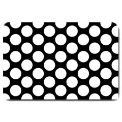 Black And White Polkadot Large Door Mat