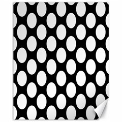 Black And White Polkadot Canvas 11  x 14  (Unframed)