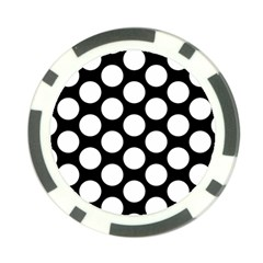 Black And White Polkadot Poker Chip