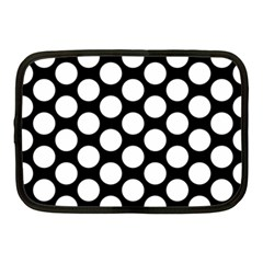 Black And White Polkadot Netbook Sleeve (medium)