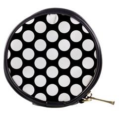 Black And White Polkadot Mini Makeup Case