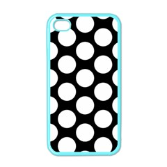 Black And White Polkadot Apple Iphone 4 Case (color)