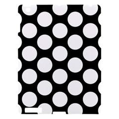 Black And White Polkadot Apple iPad 3/4 Hardshell Case