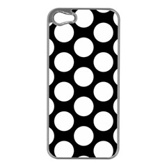 Black And White Polkadot Apple Iphone 5 Case (silver)