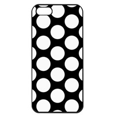 Black And White Polkadot Apple Iphone 5 Seamless Case (black)
