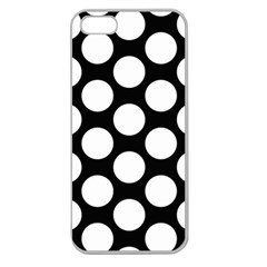 Black And White Polkadot Apple Seamless iPhone 5 Case (Clear)