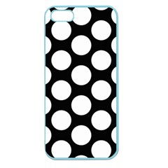 Black And White Polkadot Apple Seamless iPhone 5 Case (Color)