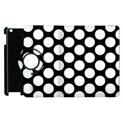 Black And White Polkadot Apple Ipad 3/4 Flip 360 Case
